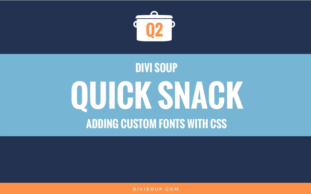 Adding custom fonts with css