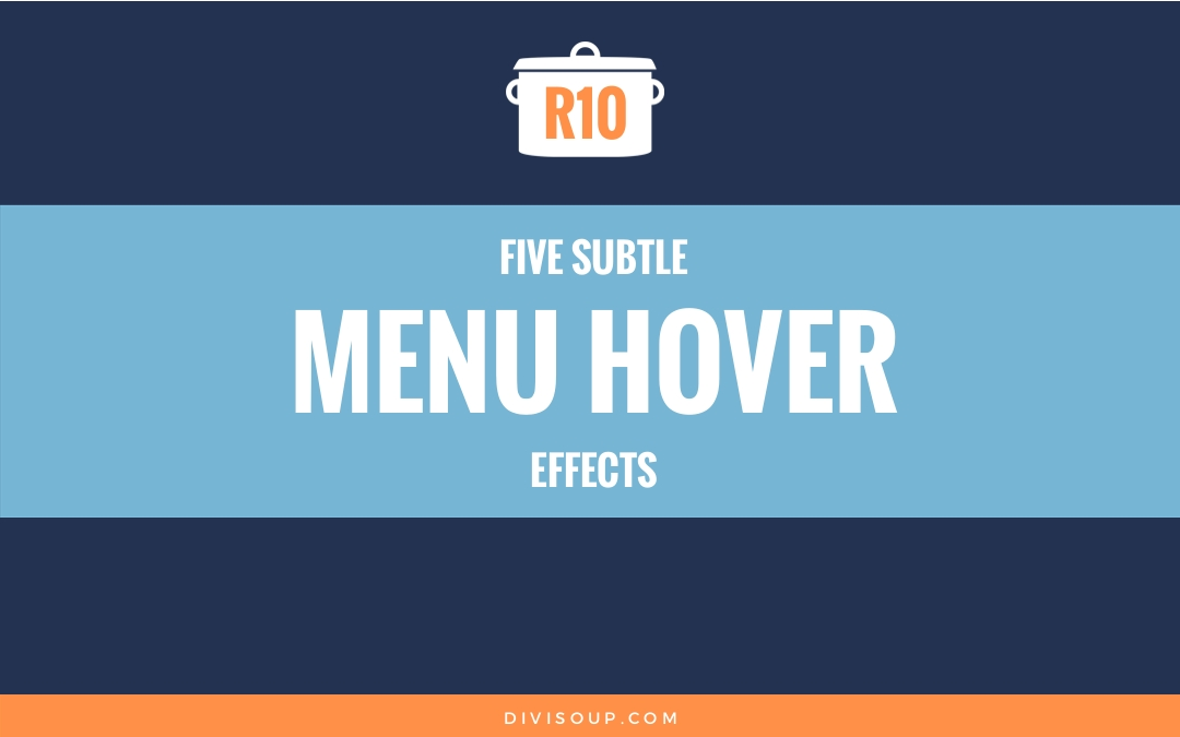 R10: Five Subtle Menu Hover Effects