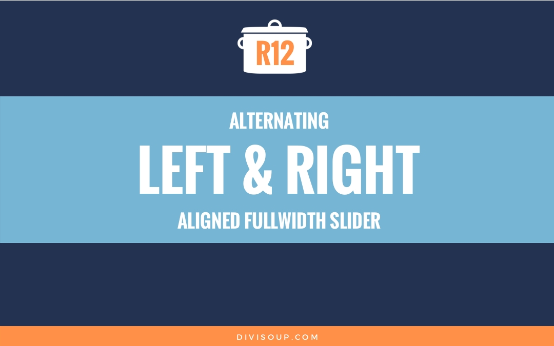 Alternating left and right aligned fullwidth slider