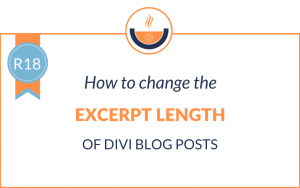 R18: How to Change the Excerpt Length of Divi Blog Posts