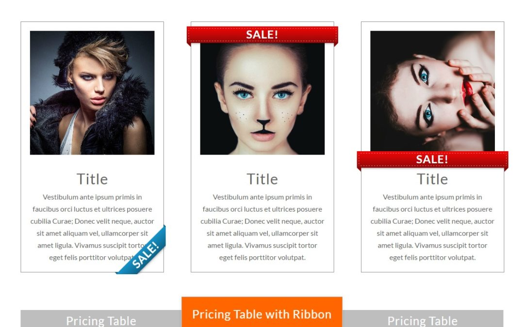 Blurb & Pricing Module Ribbons