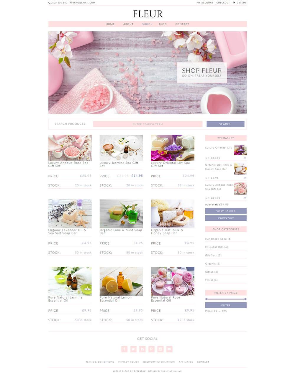 Fleur child theme3 - Divi theme ecommerce ...
