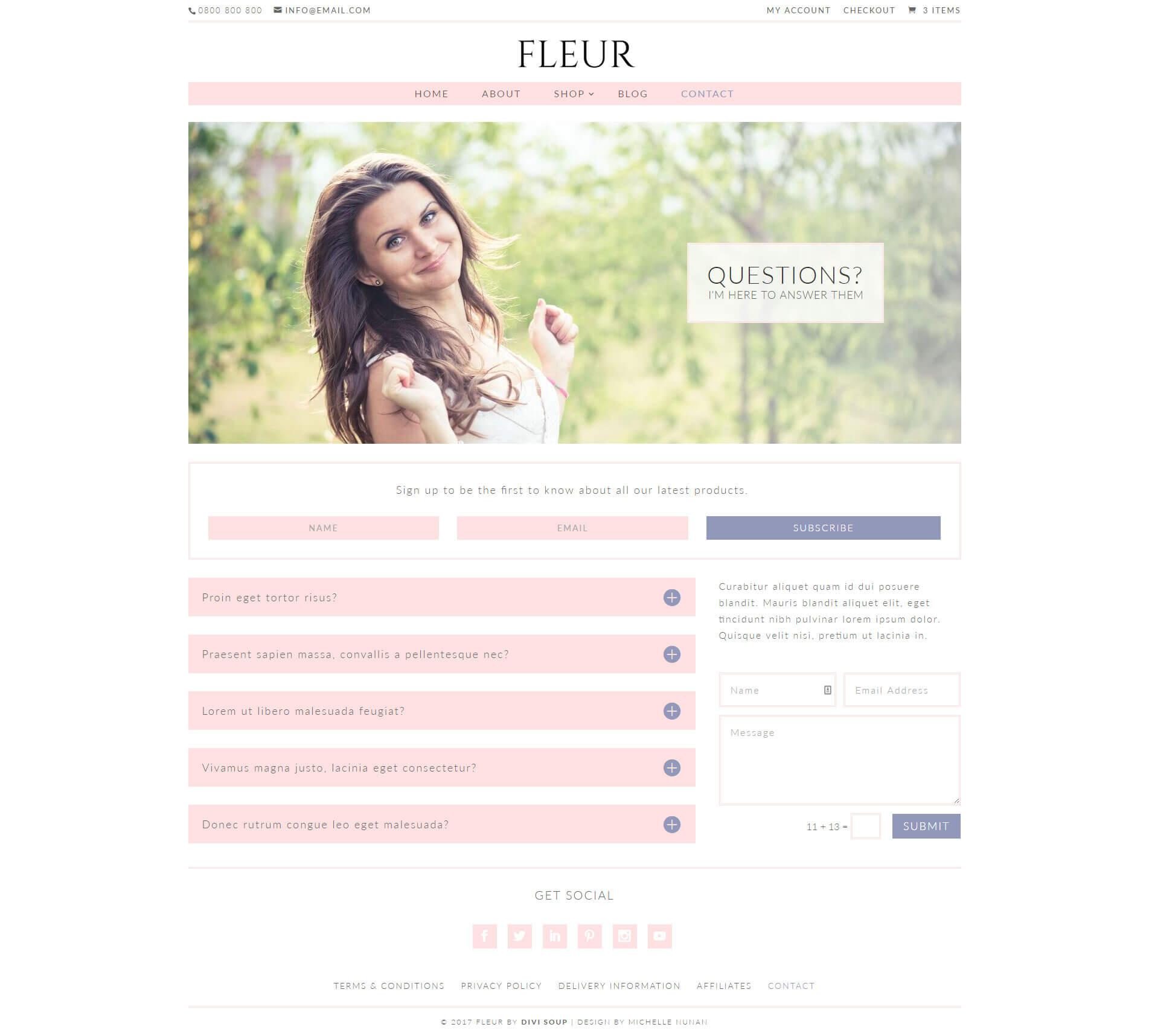 Fleur child theme5 - Divi theme ecommerce ...