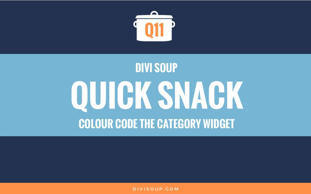 Q11: Colour Code the Category Widget