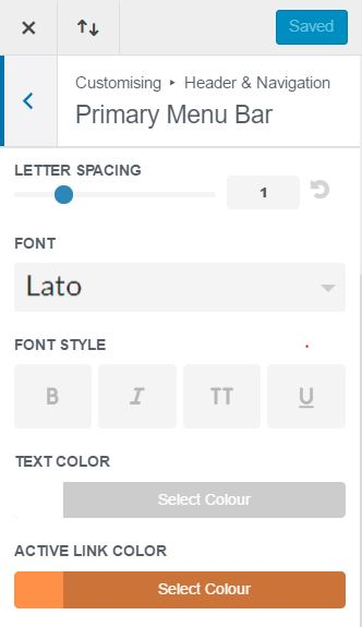 Change the Divi Active Menu Item Colour