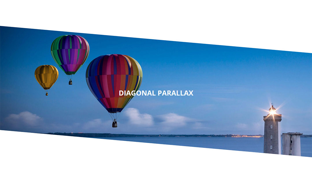 Diagonal Parallax Page Layout