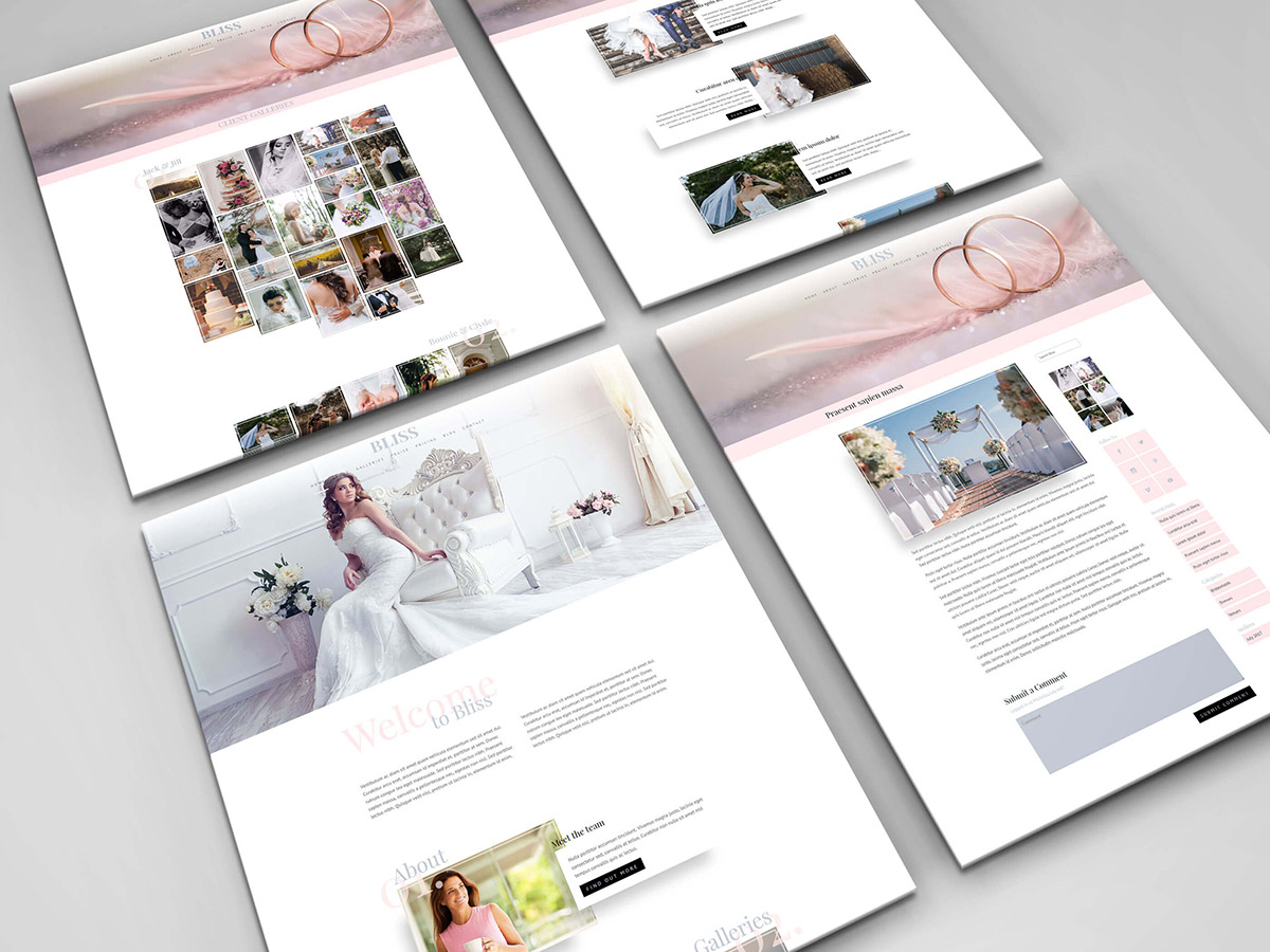 Bliss is a child theme for the divi theme from elegant themes designed for wedding photographers - Divi child theme ...
