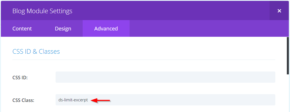 Limit the excerpt length in Divi with CSS