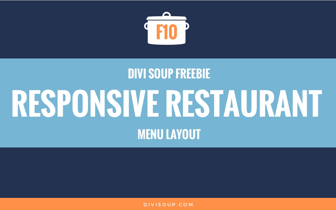 F10: Responsive Restaurant Menu Layout