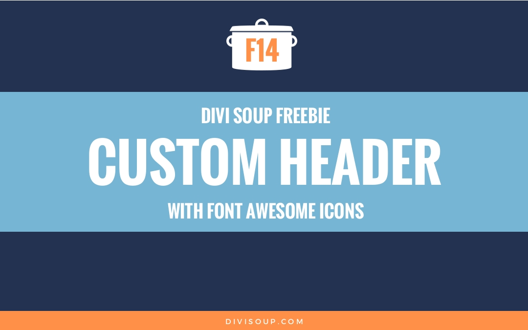 Custom Header with Font Awesome Icons Free Divi Layout