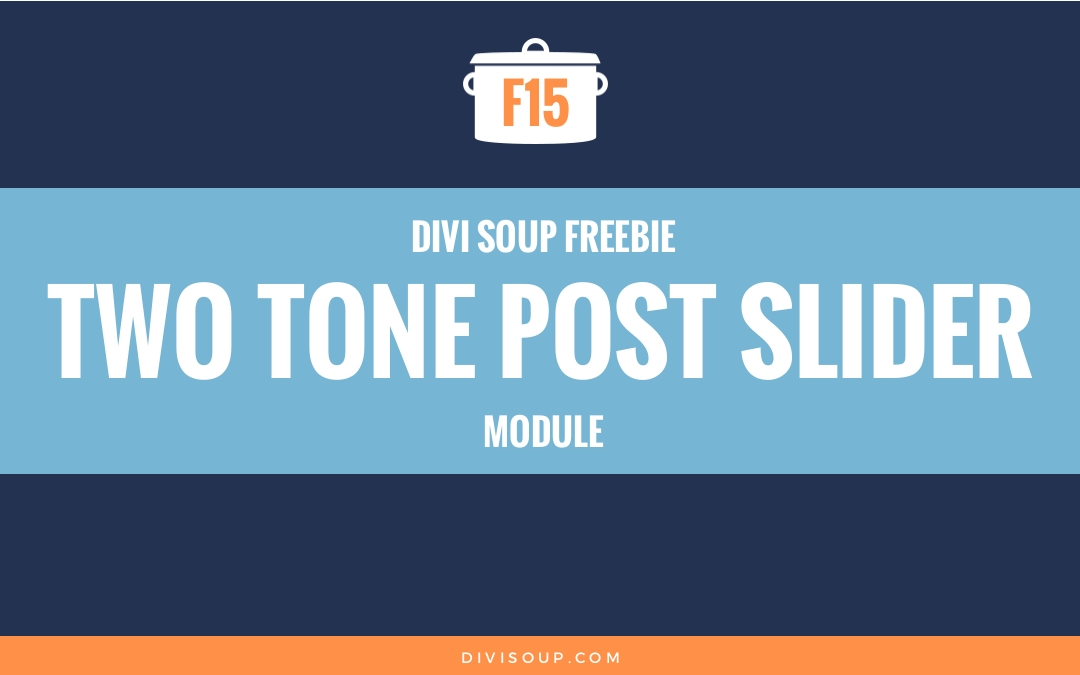 Two Tone Post Slider Module Free Divi Layout