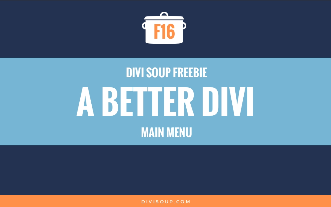 F16: A Better Divi Main Menu