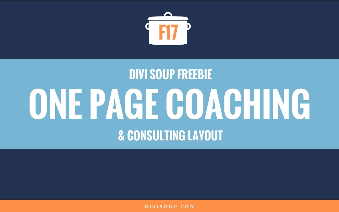 F17: One Page Coaching & Consulting Layout