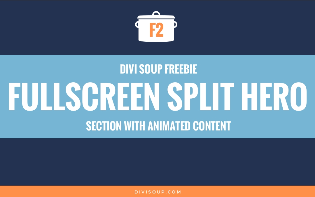 Fullscreen Split Hero Section with Animated Content Free Divi Layout