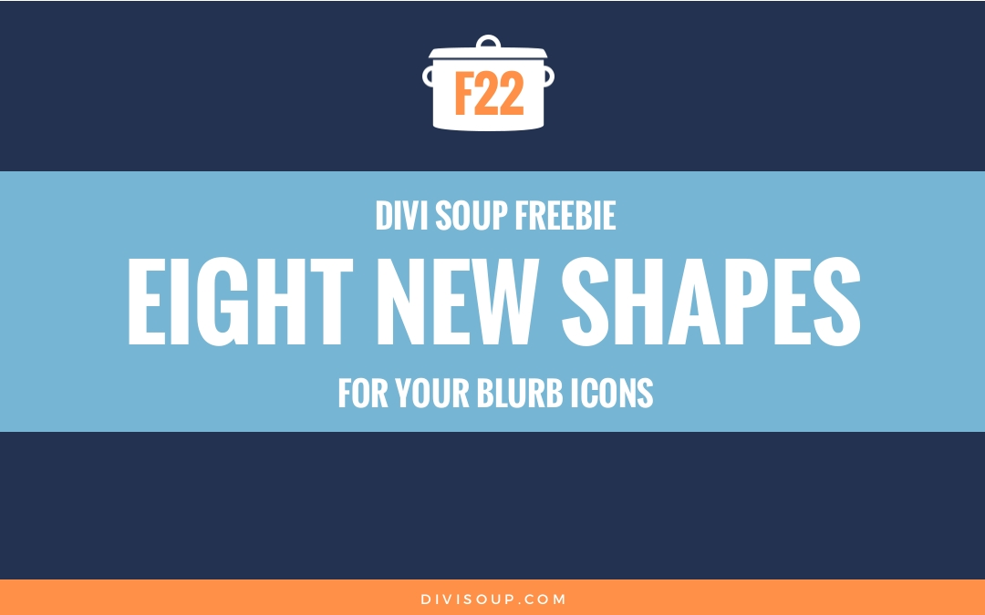 F22: Eight New Shapes for Your Blurb Icons