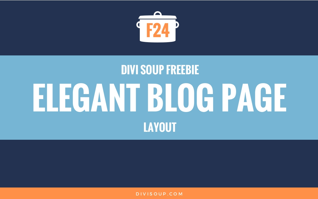 F24: Elegant Blog Page Layout