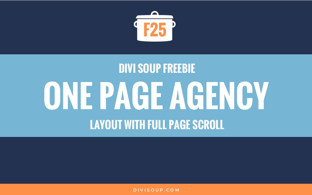 F25: One Page Agency Layout