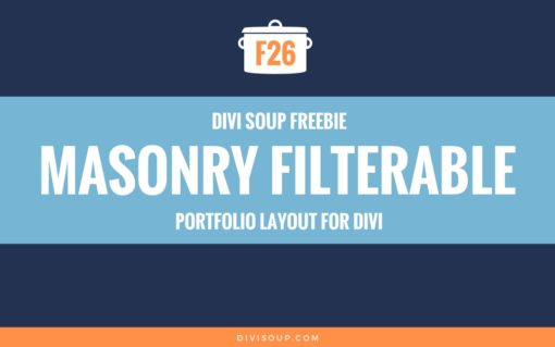 F26: Masonry Filterable Portfolio Layout
