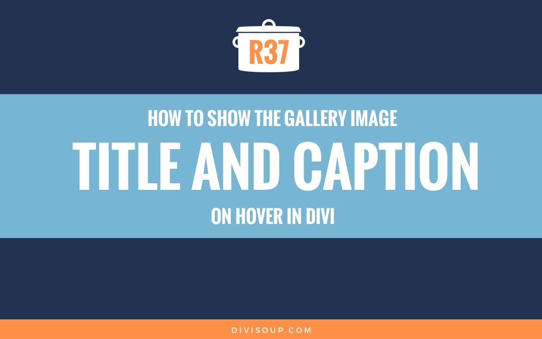 How to Show the Gallery Image Title and Caption on Hover in Divi