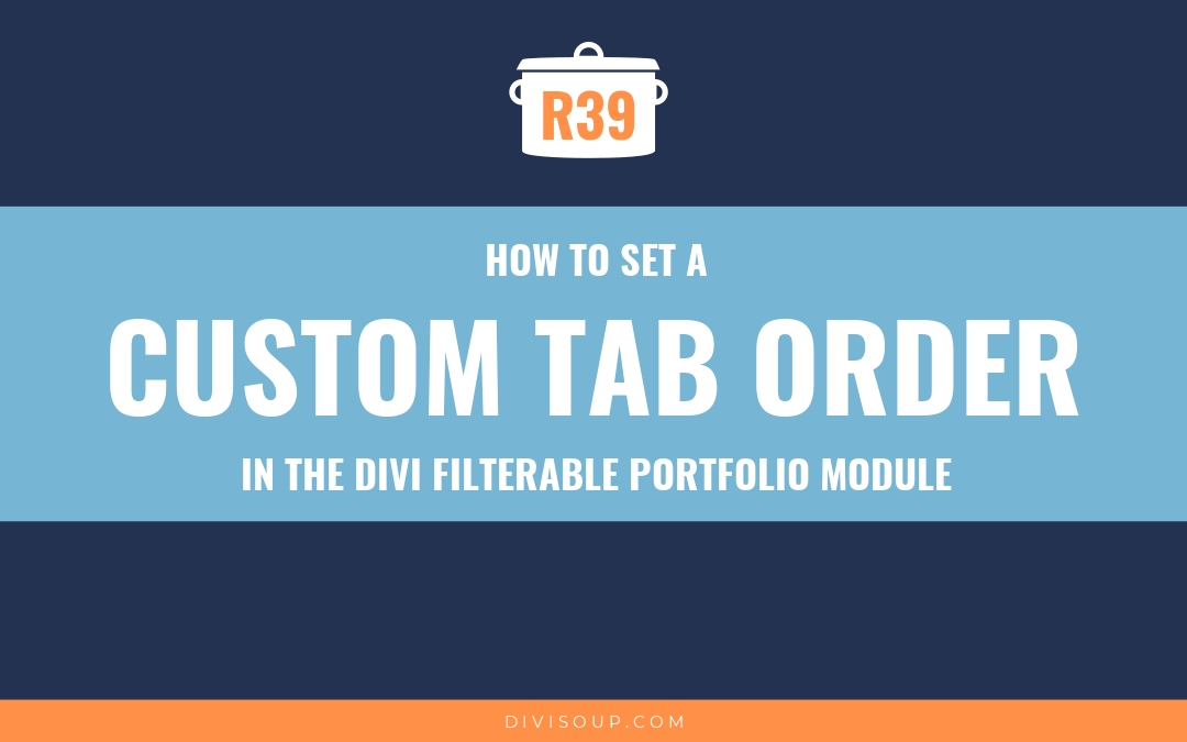 How to Set a Custom Tab Order in the Divi Filterable Portfolio Module
