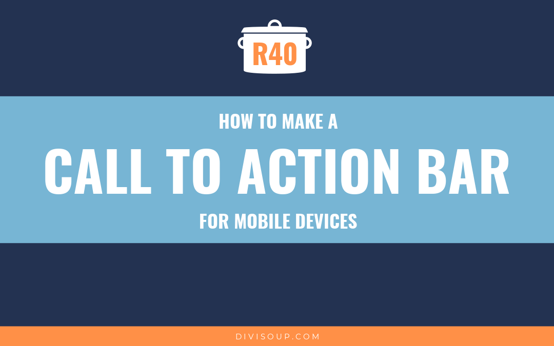 How to Make a Call to Action Bar for Mobile Devices