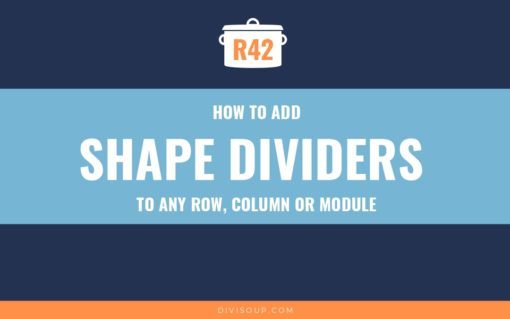 R42: How to Add Shape Dividers to Any Row, Column or Module