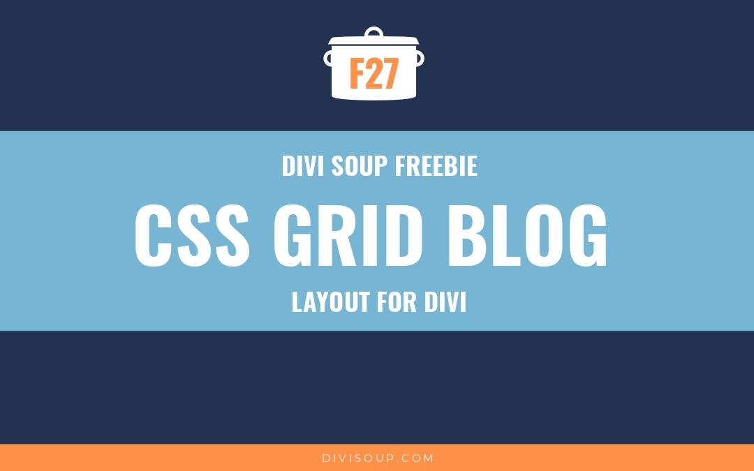 CSS Grid Blog Free Divi Layout