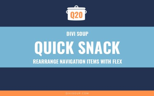 Q20: Rearrange Navigation Items with Flex