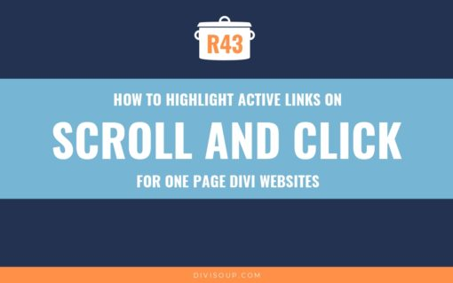 R43: How to Highlight Active Links on Scroll and Click for One Page Divi Websites
