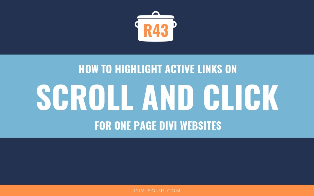 How to Highlight Active Links on Scroll and Click for One Page Divi
