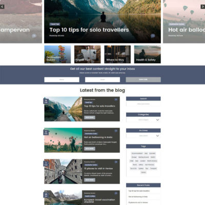 Nomad Blog Kit for Divi