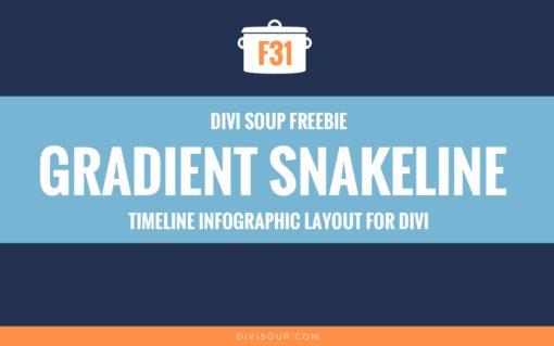 F31: Gradient Snakeline Timeline Infographic